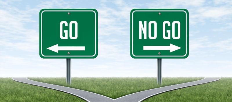 """""""Go, no go""""besluit"""